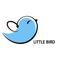 Little bird icon vector