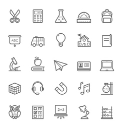 Set of outline stroke education icons vector