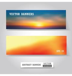 Banners set vector