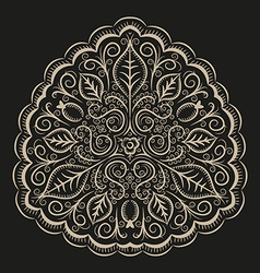 Folk intricate ornament vector