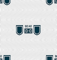 Scoreboard icon sign seamless pattern with vector