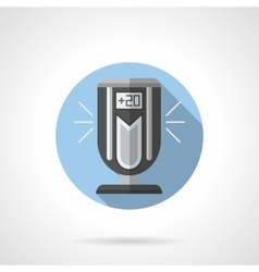 Indoor ionizer round flat icon vector
