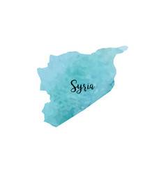 abstract syria map vector image vector image