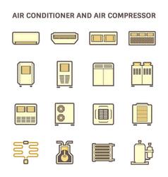 Air conditioner icon vector