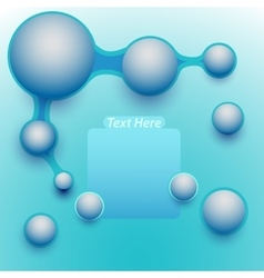 Blue abstract banner with place for text vector image vector image