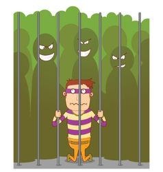 Bullying in a jail vector image