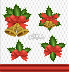 Christmas Bells Element Background vector image vector image