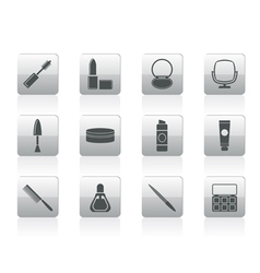 cosmetic and make up icons vector image vector image