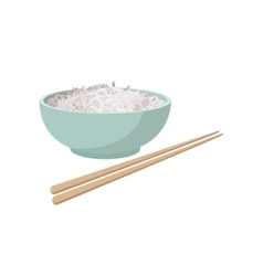 Cup of rice cartoon style vector image vector image