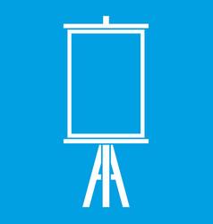 Easel icon white vector