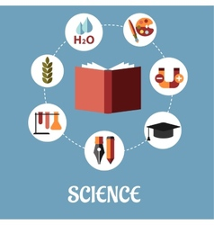 Education and science flat design vector image