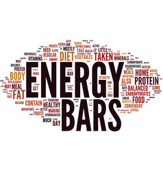 Energy bars taken at home text background word vector
