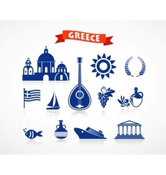 Greece - icon set vector image