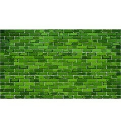 Green brick wall vector image