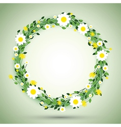 Green round flowers vector