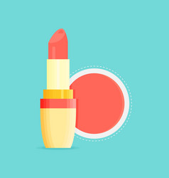 makeup beauty lipstick tube accessory lipstick vector image