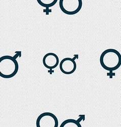 male and female icon sign Seamless pattern with vector image