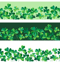 Pattern clover borders set vector