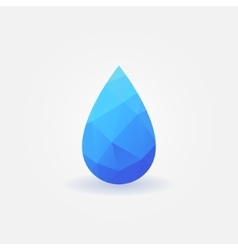 Polygonal water drop logo vector