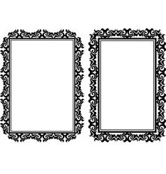 rectangular frames vector image vector image