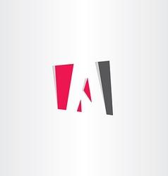 red black letter a business symbol vector image
