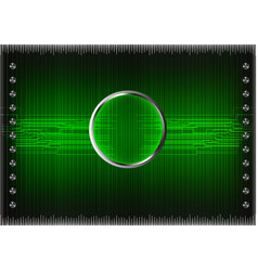 set of lines on a green background vector image