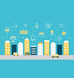 smart sustainable city development vector image vector image