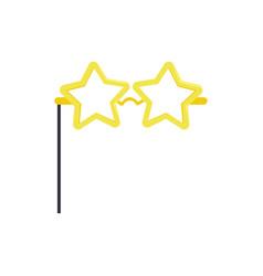 Star glasses masquerade decorative element vector