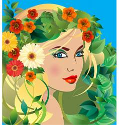 summer goddess vector image vector image