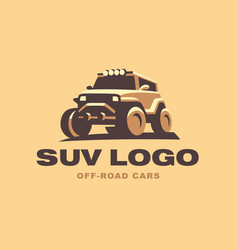 Suv logo car emblem color version vector