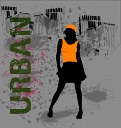 urban female vector image