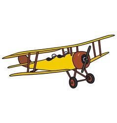 Vintage biplane vector image vector image