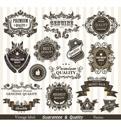 Vintage styled labels vector