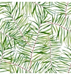 Watercolor tropical leafs pattern vector image vector image