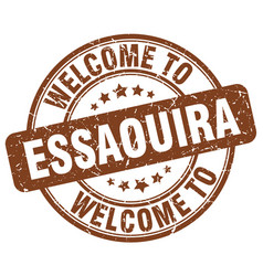 Welcome to essaouira brown round vintage stamp vector