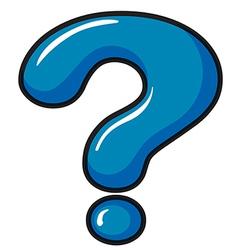 A question mark symbol vector image