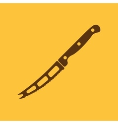 The knife for cheese icon knife and chef kitchen vector