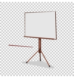 White board for presentation in an office and vector