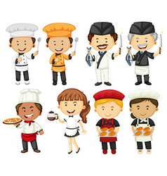 People doing different types of occupations vector image