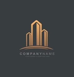 Real estate logo design building logo vector