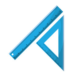 triangle ruler measuring school vector image