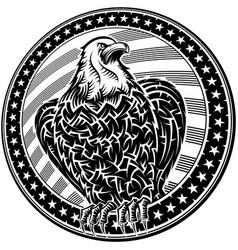 american eagle usa natioal symbol fourth july vector image