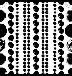 Seamless black and white hand drawn pattern vector