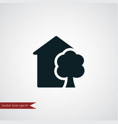 eco house icon simple vector image
