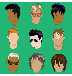 Mens haircut vector