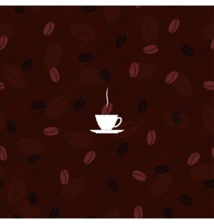 Texture coffee vector image