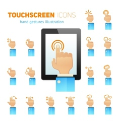 Touch screen gestures icons vector