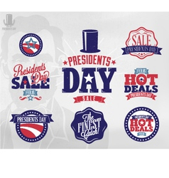 Happy presidents day sale sign vector
