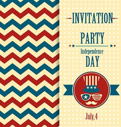American invitation vector