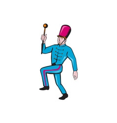 Marching band leader baton cartoon vector
